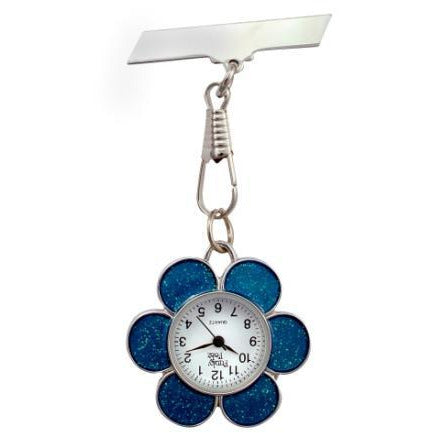 Blue Flower Fob Watch
