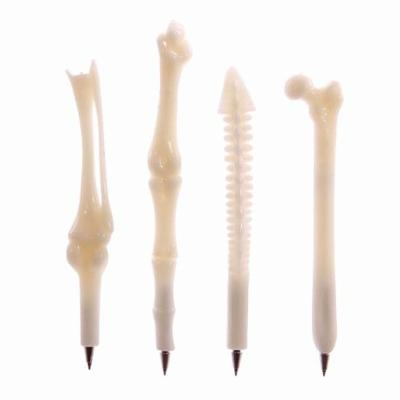 Set of 4 different bone pens - Spine, Knee, Finger + Hip