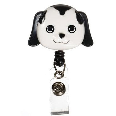 Retractable ID Lanyard Clip - Dog