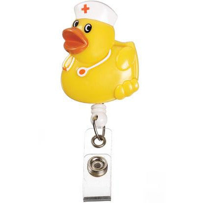 Retractable ID Lanyard Clip - Yellow Duck