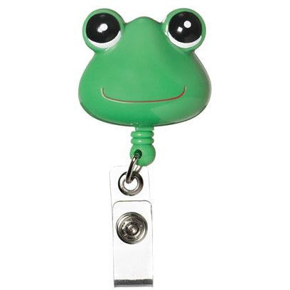 Retractable ID Lanyard Clip - Green Frog