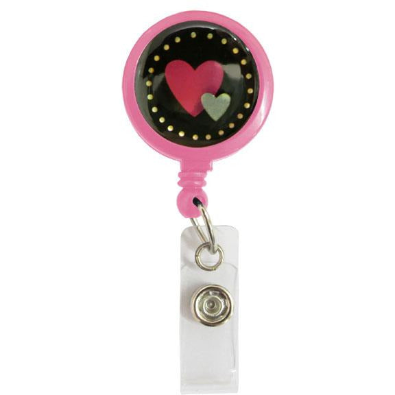 Lanyard Clip - Two Hearts
