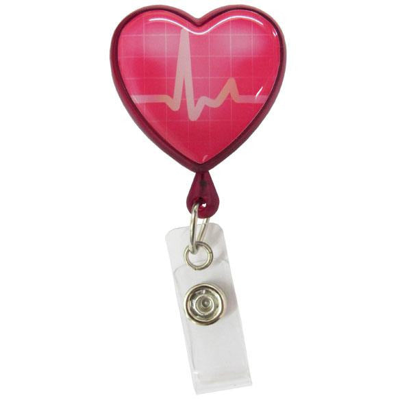 Lanyard Clip - Heart-shaped ECG