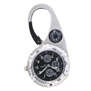 Paramedic Clip Watch Silver with Black Dial