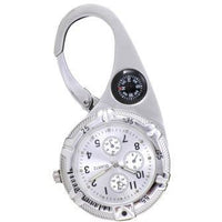 Paramedic Clip Watch Silver with White Dial