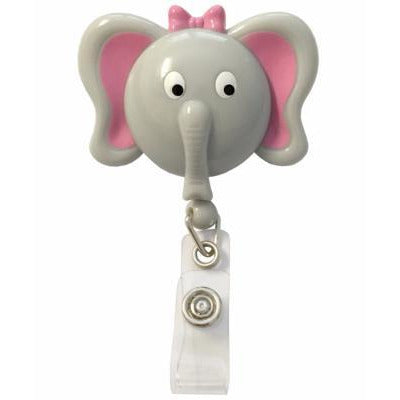 Retractable ID Lanyard Clip - Elle the Elephant