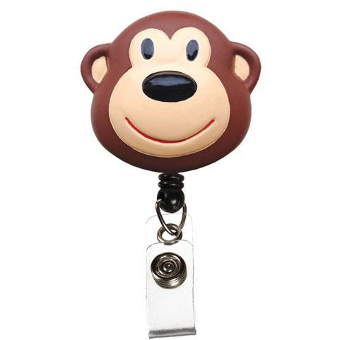 Retractable ID Lanyard Clip - Monkey