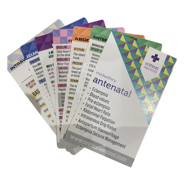 Critical Second Cue Card Mini Pack - Antenatal