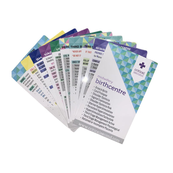 Critical Second Cue Card Mini Pack - Birth Centre
