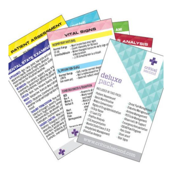 Critical Second Cue Card Mini Pack - Deluxe Pack
