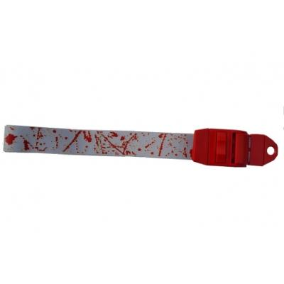 Blood Splatter Tourniquet with a red clip