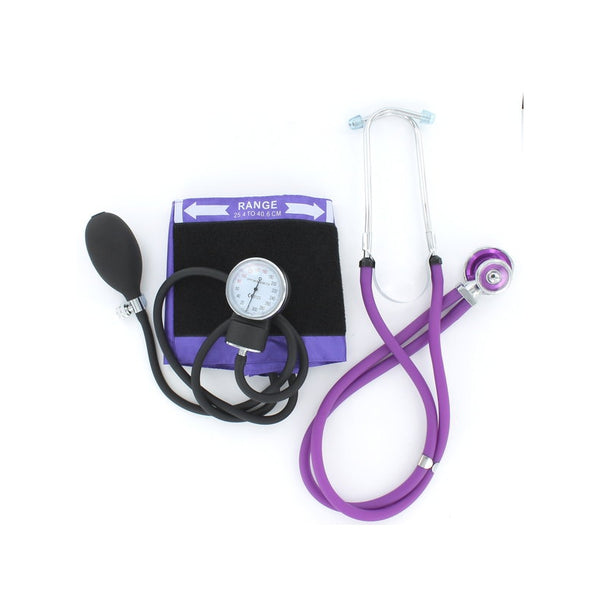 Purple Emerald Sphyg and Sprague Stethoscope Duo