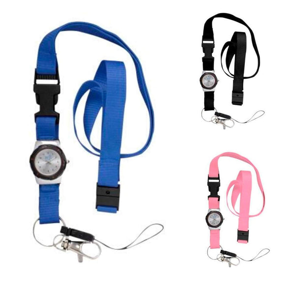 Lanyard with Integrated Watch - Three Colours