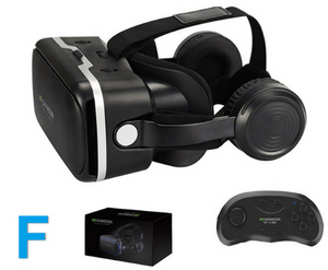 VR SHINECON-VR glasses with + remote controller,Compatible with 4.7-6.0inch IOS/Android smartphones