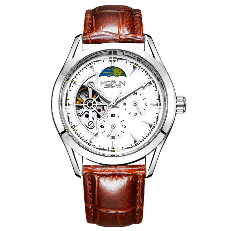 Six-pin three-eye automatic mechanical watch