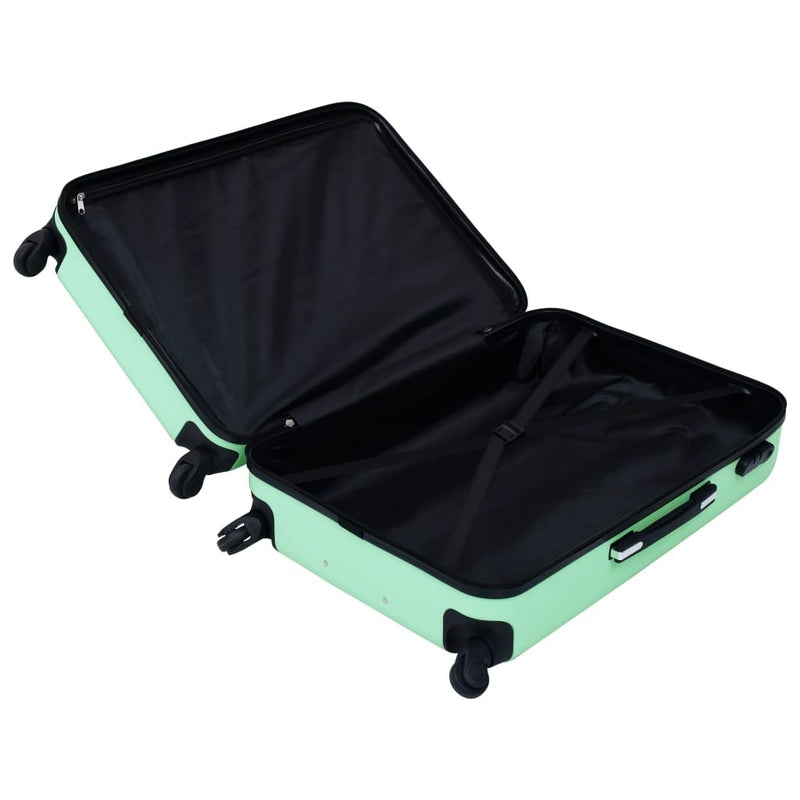 Hard shell trolley set, 3 pieces, mint green ABS