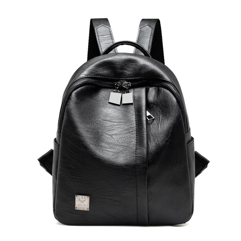 new 2021 Korean fashion all-match Backpack leather bag