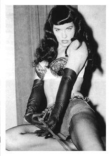 Bettie Page: image from Wikipedia
