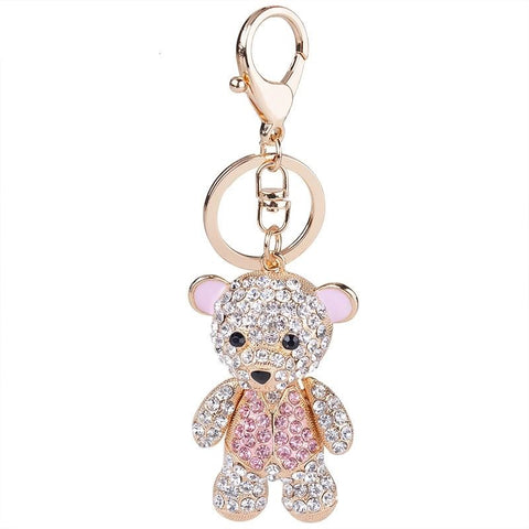 Porte Clé Ourson Rose | Porte Clé Shop