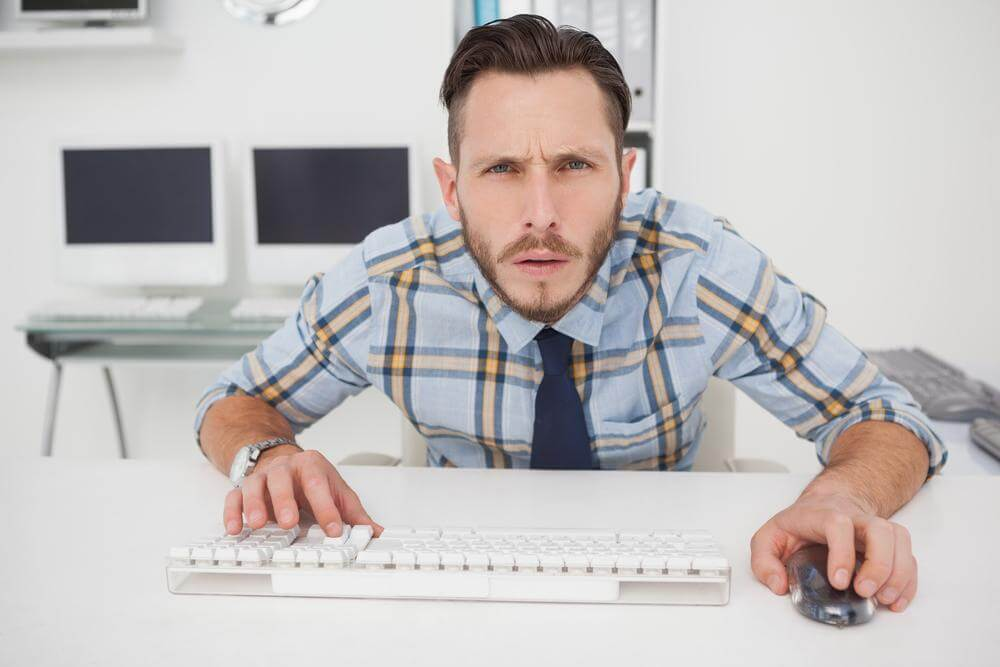 man with adult ADHD hyperfocused