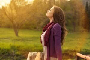 practice how to stop an anxiety attack by breathing in fresh air
