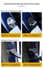 Load image into Gallery viewer, Tesla Model 3 Model Y Accessories Door Lock Latches Covers Rustproof Door Stopper Covers Set of 6 Fits Tesla Model 3 2017-2020
