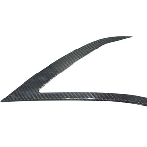 Real Carbon Fiber Front Lamp Eye brow Trim - Model S