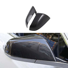 Load image into Gallery viewer, Real Carbon Fiber Rear View Mirror Cover Model 3