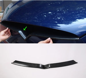 Carbon Fiber Middle Grille Mesh Trim Strip - Model X