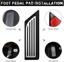 Load image into Gallery viewer, Tesla Model 3,Y Model 3 Anti-Slip Foot Pedal Pads,Accelerator Gas & Brake & Foot Rest Foot Pedal Pads for Tesla Model 3 (A Set of 3)