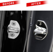 Load image into Gallery viewer, Car Door Lock Latch Cover set of 4 - Model 3 Model Y