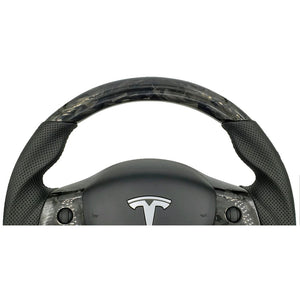 Forged Carbon Fiber Steering Wheel - Model 3
