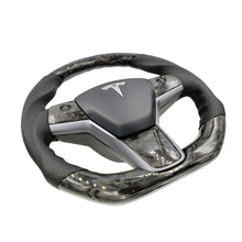 Load image into Gallery viewer, Forged Carbon Fiber Steering Wheel - Model 3