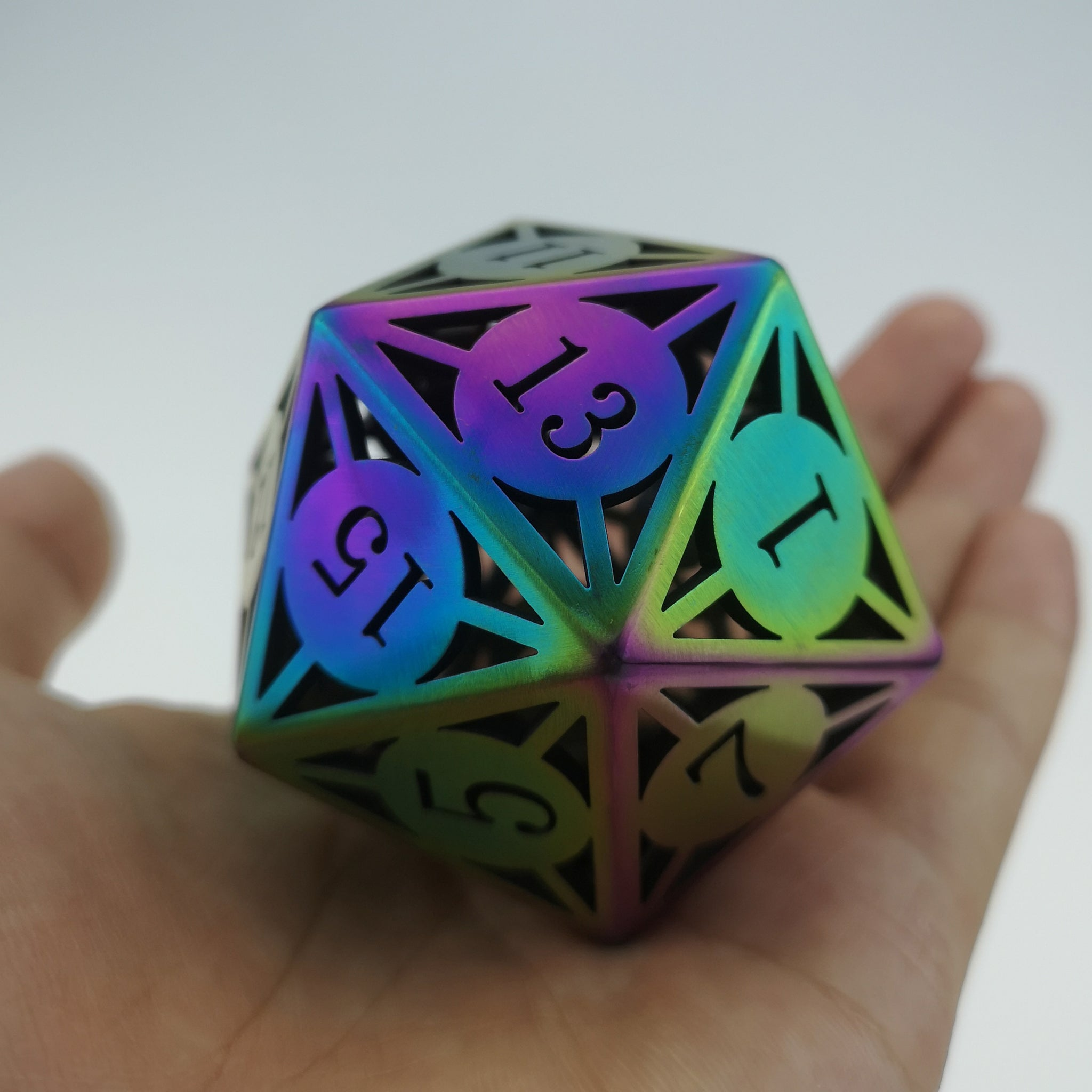 Giant Hollow Metal Dice D20
