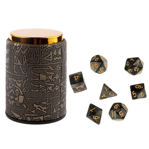 Mixed Color Dice Set & Dice Cup
