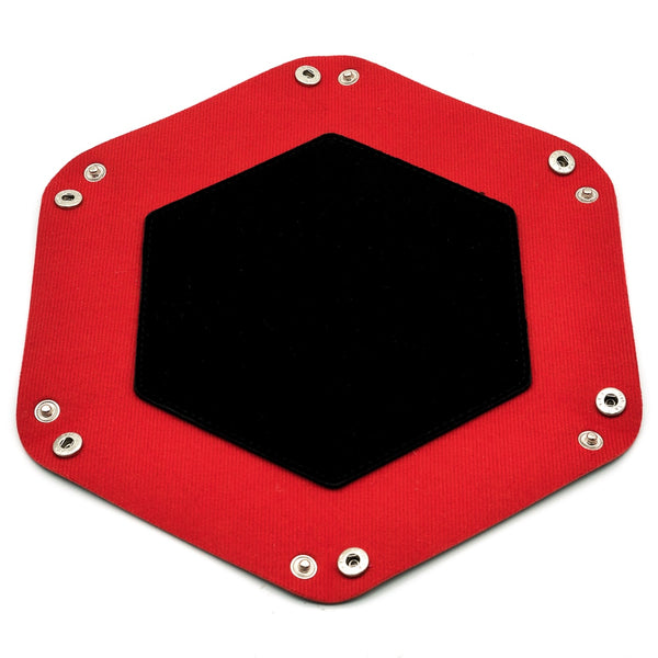 Foldable Hexagon Portable  Leather Dice Tray