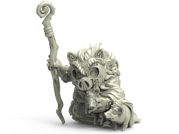 Durgin Paint Forge Priestess of the Golden Boar 32mm Resin Miniature