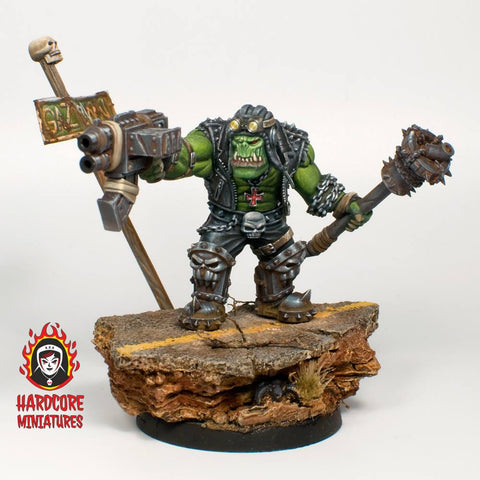 Hardcore Miniatures Orc Leader 45mm Resin Miniature base not included
