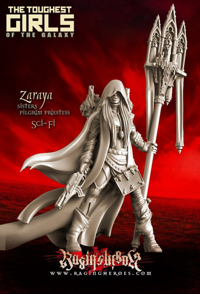 Raging Heroes Zaraya, Pilgrim Priestess (Sisters - SF) 35mm Resin Miniature