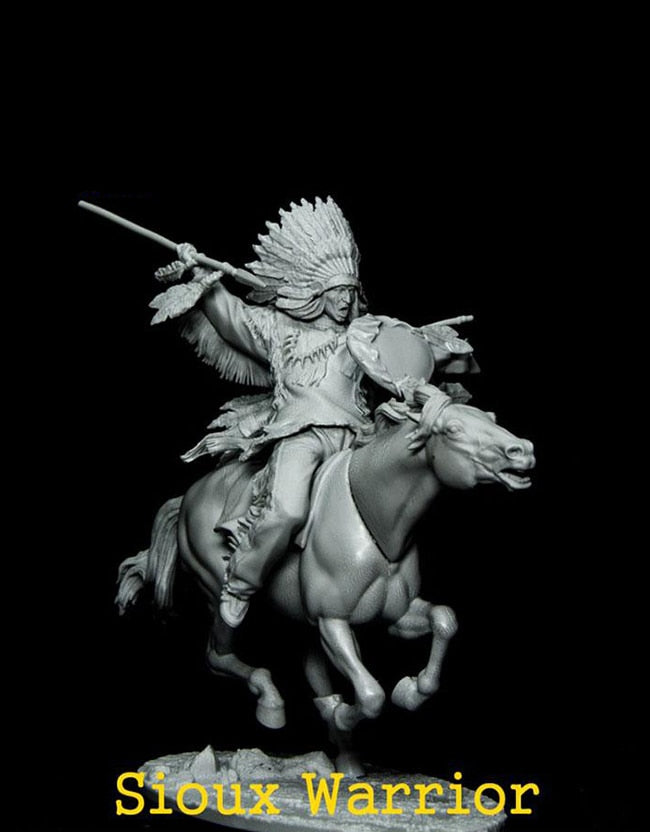 Ancient Fantasy Warrior with Horse Resin Miniature
