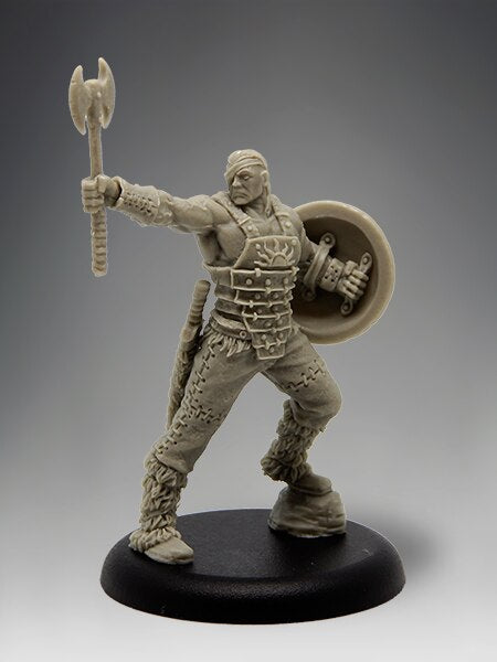 Black Sun Miniatures Barbarian Champion with Options 35mm Resin Miniature