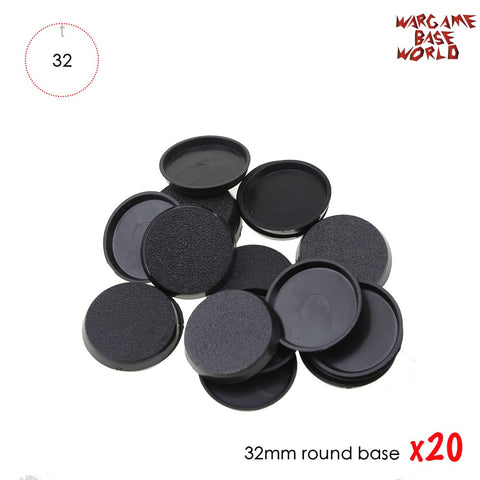 20PCS 32mm Round bases for wargames and Gaming Miniatures plastic base