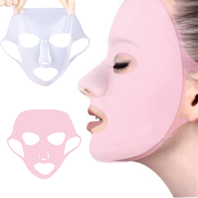 1PC Reusable Women Skin Care Tool Moisturizing Ear Fixed Silicone Face Mask