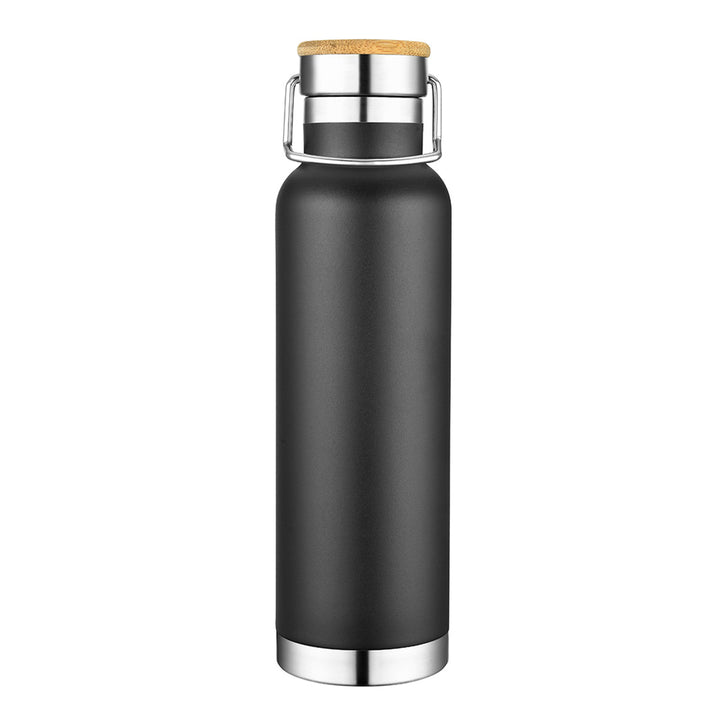 Slate 22oz Vacuum Bottle W/ Bamboo Top - Closeout!