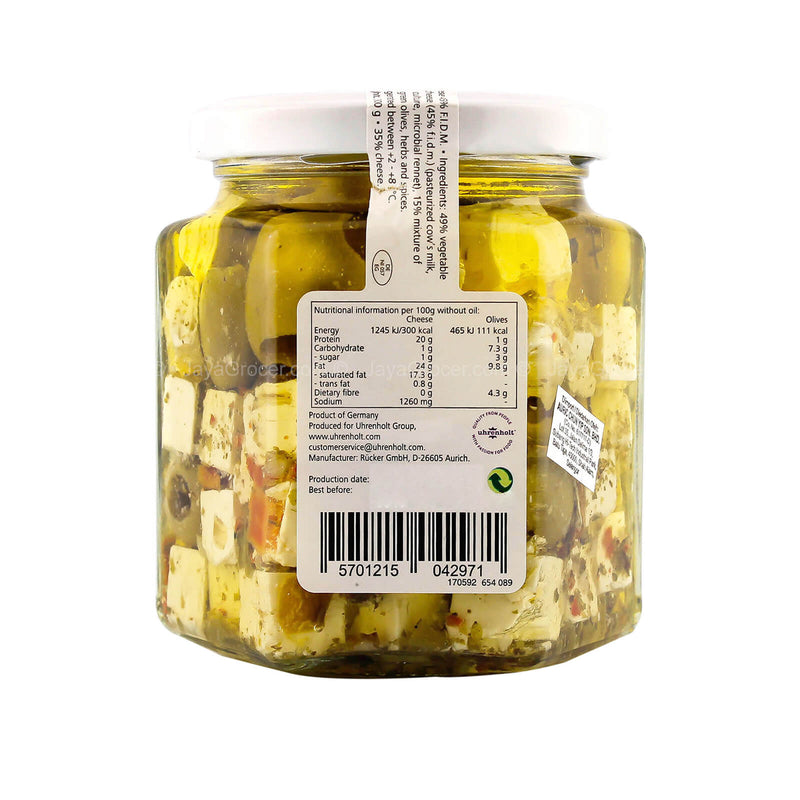 Emborg Feta in Oil with Herbs and Olives 300g