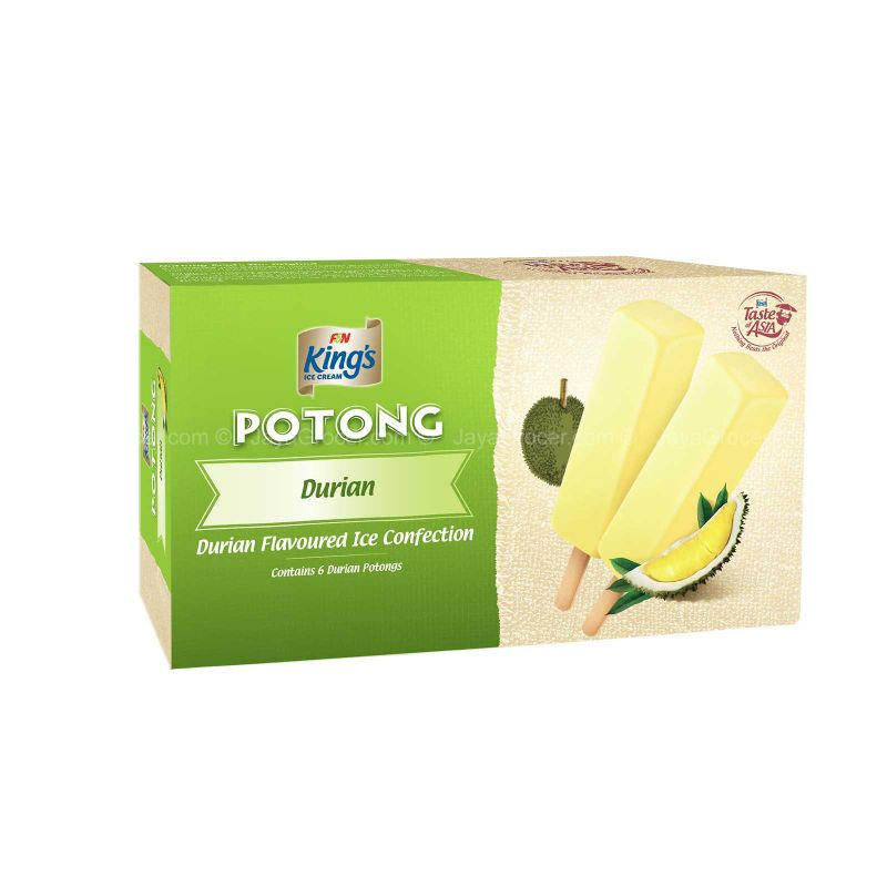 King's Potong Durian Ice Cream 60ml x 6
