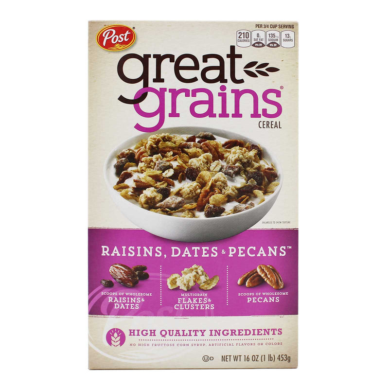 Post Great Grains Raisins & Dates & Pecans 453g