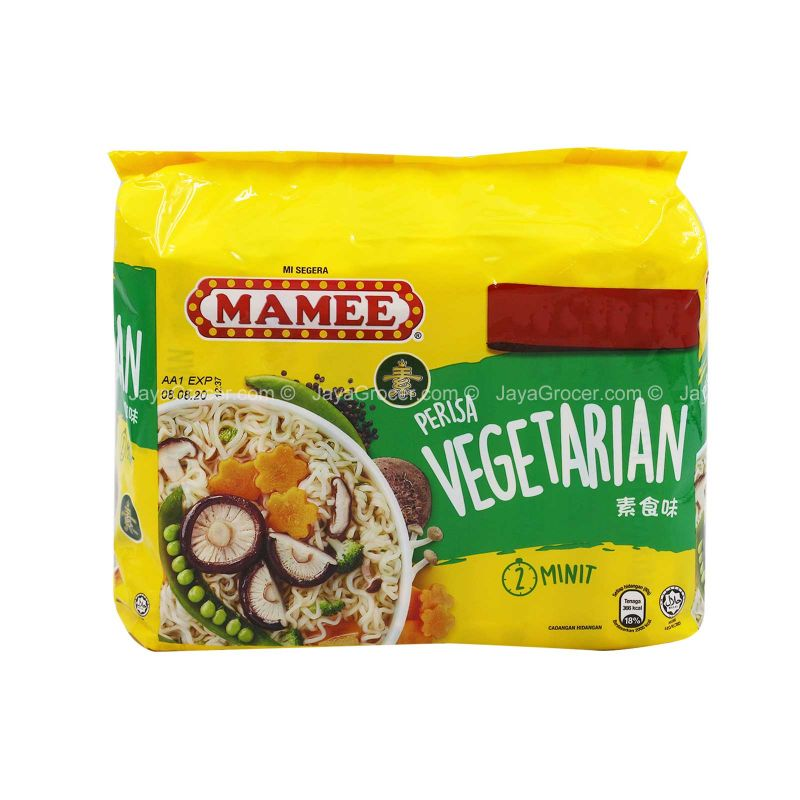Mamee Vegetarian Flavour Instant Noodle 75g x 5