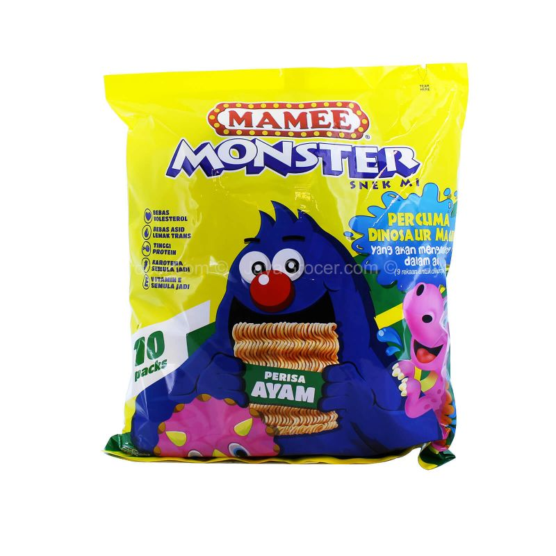 Mamee Monster Chicken Noodle Snack 25g x 8