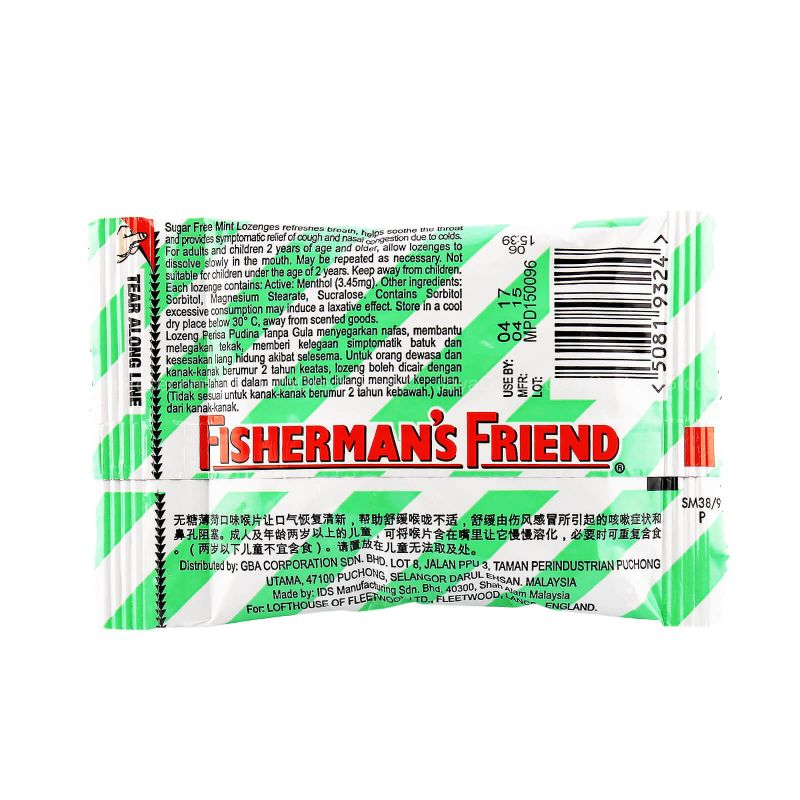 Lofthouse's Fisherman's Friend Sugar Free Mint Lozenges 25g